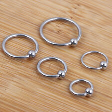 6pc Silver Captive Bead Vaginal Ring Ball Hoop Eyebrow Nipple Nose Body Piercing