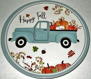 """FALL Melamine Plate Assortment 8"""" Dia. Set of 4 Plates [Your Choice of Pattern]"""