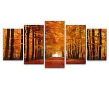 Canvas Print Painting Photo Pic Poster Wall Art Home Decor Brown Forest Framed