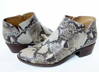 LUCKY BRAND Brintly snake print tan/brown genuine leather ankle BOOTS womens 8.5