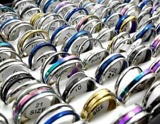 30pcs 2 /3 in 1 Men Women Color Mix Stainless Steel rings Wholesale Jewelry lots