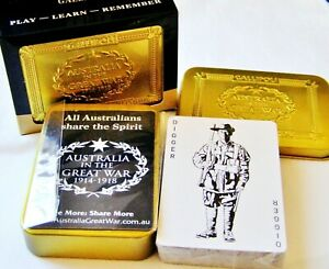 Gallipoli Golden Case Australia ANZAC Share the Spirit Playing Cards   1st Issue