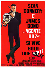 James Bond: * You Only Live Twice *  Italian Poster 1967 Large Format 24x36