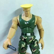 "JAZWARES STREET FIGHTER Green GUILE 4"" ACTION FIGURE GAME BOYS TOYS"