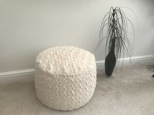 Curly Teddy Luxurious Super Soft Faux Fur Pouffee / Footstool Made in the UK