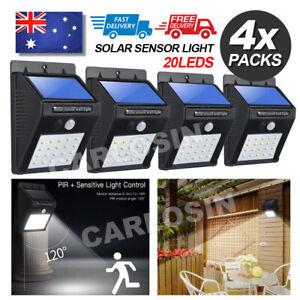 4PCS 20 LED Solar Powered PIR Motion Sensor Light Garden Outdoor Security Lights