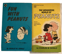 Lot of 2 Charlie Brown Snoopy Peanuts Books - Vintage - Paperback - Schulz