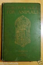 RARE BOOK Poetry's Plea for Animals 1927 Anthology of Justice & Mercy CLARKE