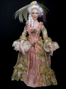 Exquisite dolls house 1/12th doll by Celia Mayfield~Georgian lady doll