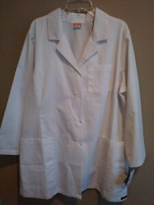 NWT ICU by Barco 5 Pocket Princess Seam White Lab Coat Jacket Womens 2XL