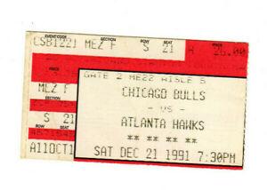 DEC 21 1991 CHICAGO BULLS VS HAWKS TICKET STUB MICHAEL JORDAN 37 PTS CHAMP YEAR