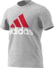 Adidas Shirt -  Grey Heather/Scarlet/White - Large size  Badge of Sport Classic