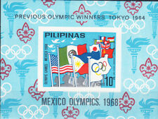 W PHILIPPINES Y1968 (09v) UNAUTHORIZED MEXICO OLYMPIC IMPERFORATED SOUV SHEET