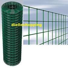 ROTOLO 25 mt RETE PER RECINZIONE METALLICA PLASTIFICATA H 1,50 mt MAGLIA 5x7,5cm