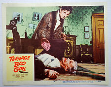 Teenage Bad Girl movie lobby card poster vtg 1957 exploitation scare film