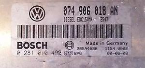 TUNED !!! VW T4 2.5 TDI 150 BHP AHY/AXG 074906018AN 0281010049 IMMO OFF P&P