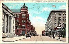 Postcard IN Marion West Third Street Looking East Q2
