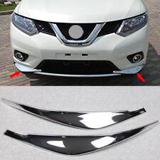 Chrome Front Bumper Corner Edge Protector Trim Fit Nissan X-Trail Rogue 2014-16