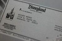 Disneyland 1985 Walt Disney Payroll News Frontierland Then & Now Mickey Mouse