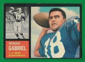 1962 Topps #88 Roman Gabriel (RC) (SP) (EX-EXMT) Los Angeles Rams