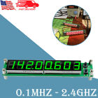 1PC Green RF Signal Frequency Counter 0.1MHZ - 2.4GHz Cymometer Tester Meter