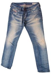 DIESEL Women`s Jeans Size 30 LOWKY Regular Straight Low Waist RRP: 250 EUR
