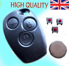 RENAULT Trafic Master Clio Modus 3 Button Remote Key Fob Case Full Repair Kit