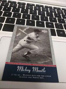 MICKEY  MANTLE  2001  UPPER  DECK PINSTRIPE  EXCLUSIVE   SBP