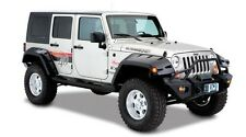 BUSHWACKER: MAX COVERAGE FENDER FLARES 07-17 JEEP WRANGLER JK UNLIMITED SET OF 4