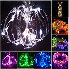 20LED LED Kork Weinflasche Lampe Fee Lichterkette Stopfen 2M Streifenlampe Bunt