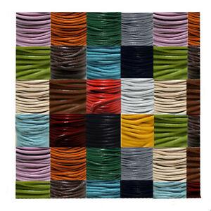 Lederriemen,Lederband Rund 5mm dick,Extrem robust Echtes Leder  24 Versch- Farbe