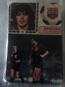 Cromo Maradona Este 83-84 Barcelona Liga España Calendario