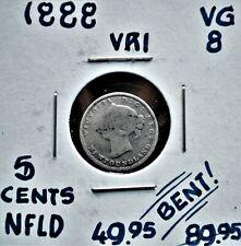 1888 Newfoundland 5 cents VG *bent