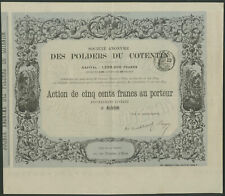 More details for france: s.a. des polders du cotentin, 500 franc share, 1874