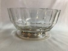 Lead Crystal Bowl with Silverplate Pedestal Base
