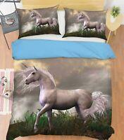 3D Horse Grass ZHUA1599 Bed Pillowcases Quilt Duvet Cover Set Queen King Zoe