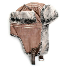 Men Women Winter Trapper hat Bomber Aviator Russian Trooper Fur Earflap Ski Hat
