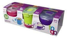 Sistema Klip It Microwave Plastic Food Box Container Soup/ Porridge bowl 3 Pack