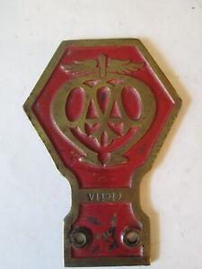 AA Badge. AA commercial badge type 2 1913-30. RAC badge.
