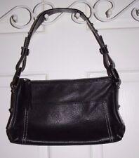 NEW $379 Bosca Black Leather Purse Handbag