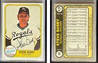 Steve Busby Signed 1981 Fleer #33 Card Kansas City Royals Auto Autograph