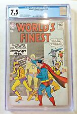 World's Finest 106 DC Comics Silver Age 1959 CGC 7.5 Swan Sprang O/W Pages