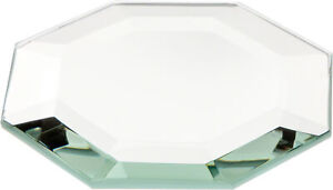 Plymor Octagon 5mm Beveled Glass Mirror, 3 inch x 3 inch (Pack of 3)