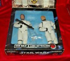 """Star Wars Collector Series Kenner 12"""" Luke Skywalker & Han Solo as Stormtroopers"""