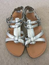 Girls Silver Sandals Butterfly By Matthew Williamson Size 1