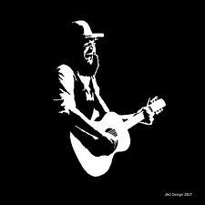 Ward Davis Country Music Singer Songwriter Guitar Decal Sticker White