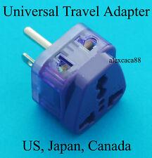 UK Euro AU to USA Japan Taiwan Universal Power Plug Travel Adaptor Dual Ports