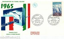 1965// ENVELOPPE FDC 1°JOUR//TUNNEL ROUTIER-MONT-BLANC//Y/T.N°1454