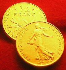 OR/GOLD   PL     50  CENTIMES   1/2 FRANCS   SEMEUSE  1984   RARE