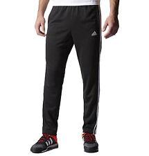new adidas TAPPERED FIELD PANTS men's sz L black gym run training track sweats